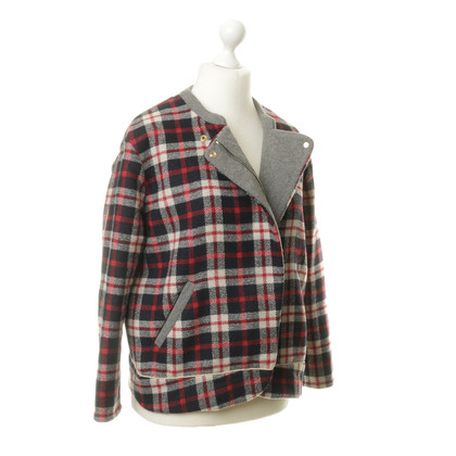 Bash Jacket with plaid pattern