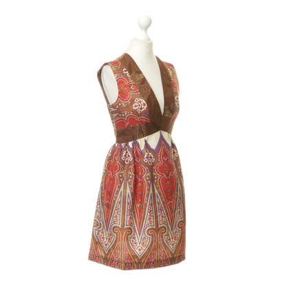 Anna Sui Dress pattern with gold threads