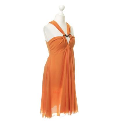 Just Cavalli Dress with silk in Orange