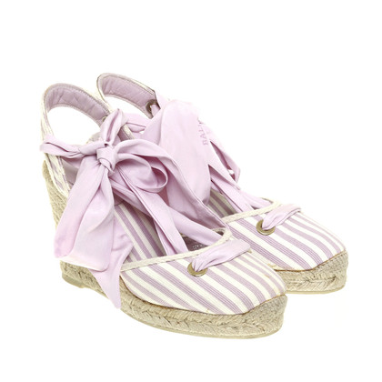 Bally Wedges with stripes
