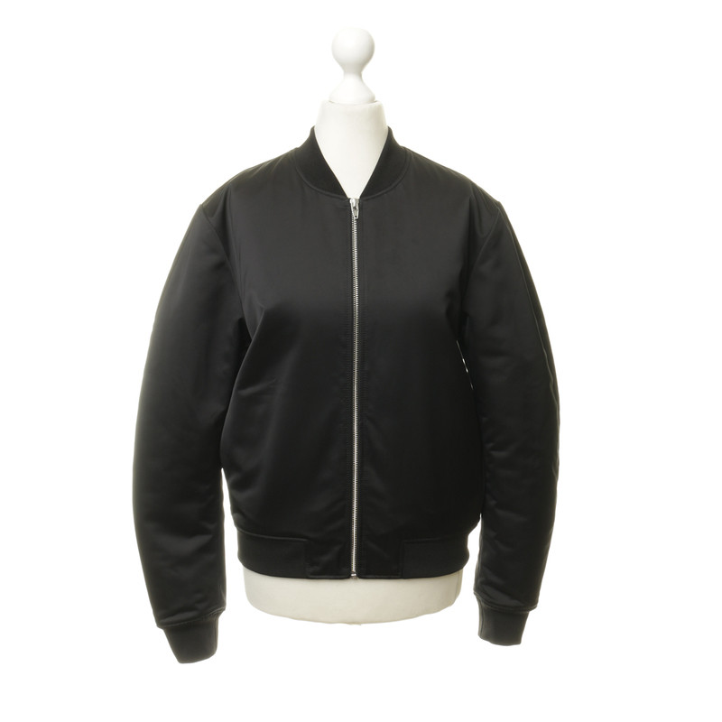 T by Alexander Wang Bomber jacket with satin shimmer