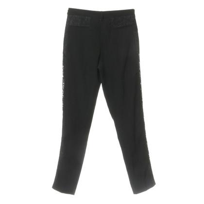 Pinko Pantaloni con inserto in pizzo