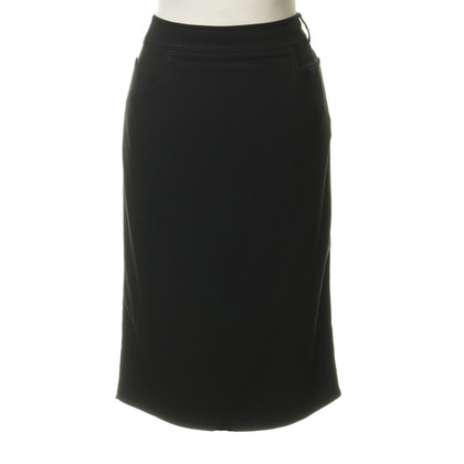 Christian Dior Narrow skirt with decorative stitching