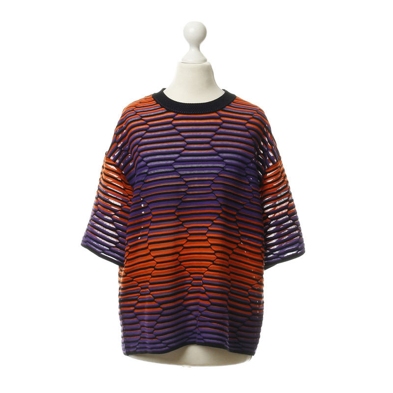 Missoni Short sleeve sweater in Orange and violet