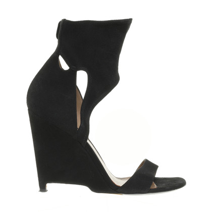 Altre marche Agnona - pumps in pelle scamosciata con cut-out