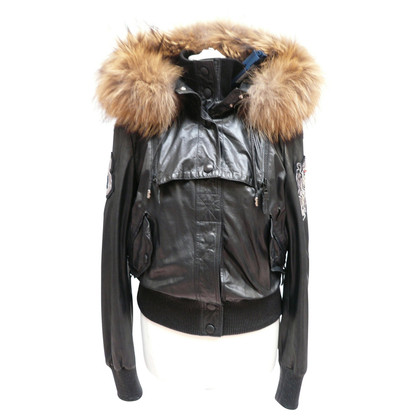 Philipp Plein Bomber jacket made of lamb nappa