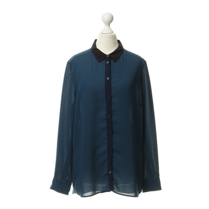 Closed Blouse in teal kleuren
