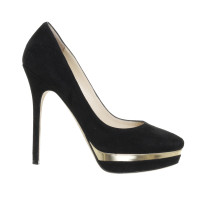 Jimmy Choo Plateau pumps with metallic insert