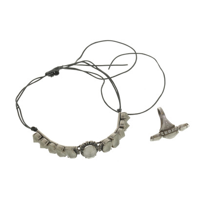 Jean Paul Gaultier Jewelry set with gray stones