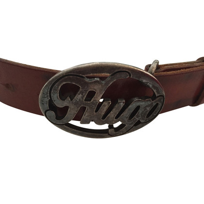 Hugo Boss Brown belt with logo buckle