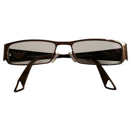 Armani Brille mit Metallic-Applikation
