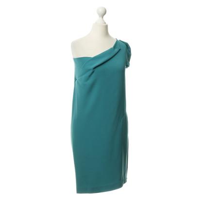 Roland Mouret One shoulder dress in teal