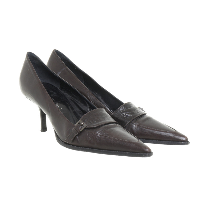 Marc Cain Donkere bruine pumps