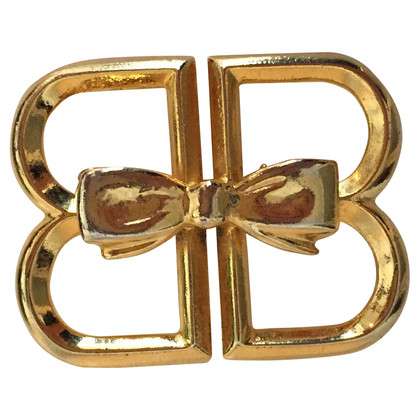 Balenciaga Gold-plated logo brooch