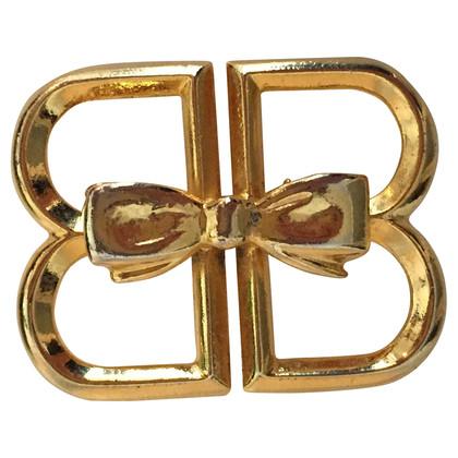 Balenciaga Spilla logo dorato