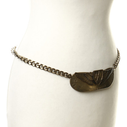 Jean Paul Gaultier Chain belt with badge