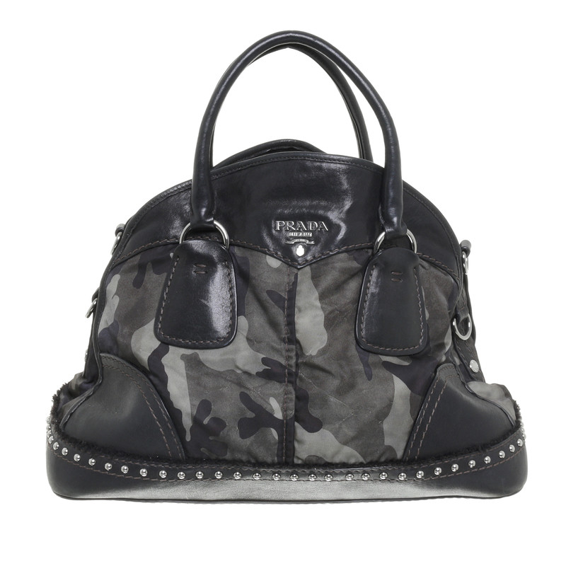 prada handtasche camouflage bowler second hand prada handtasche camouflage bowler. Black Bedroom Furniture Sets. Home Design Ideas