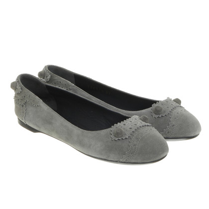 Balenciaga Suede of ballerinas in grey-green