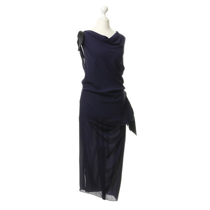 Nina Ricci Silk dress in dark blue