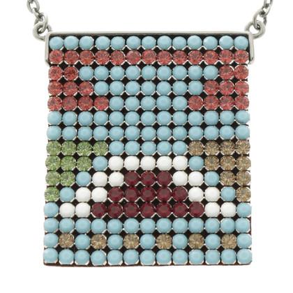 Swarovski Colored gemstone necklace