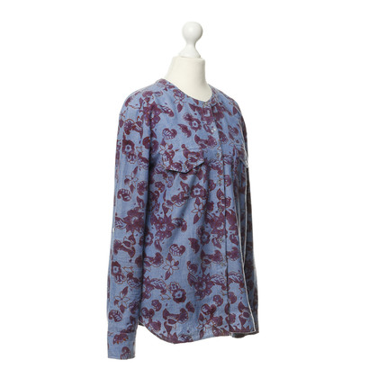 Antik Batik Baumwollhemd mit Blumenprint