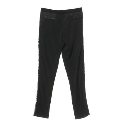 Pinko Pantaloni con inserti in pizzo