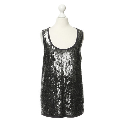 Luisa Cerano Sequin top in zilver