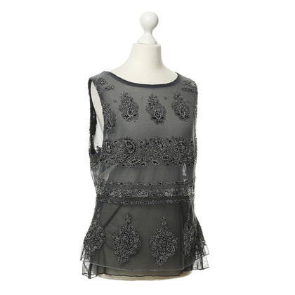 Ella Singh Embroidered mesh top