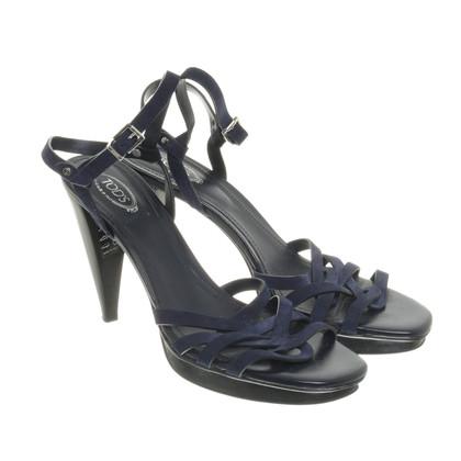 Tod's Dark blue sandals