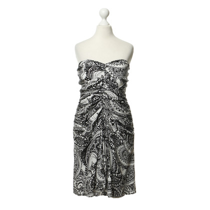 Reiss Strapless dress with pattern