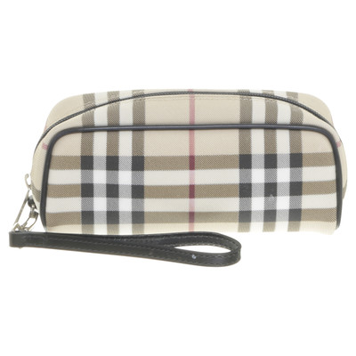 Burberry necessaire with check pattern - Second Hand Burberry ...