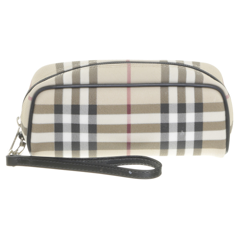 Burberry Necessaire mit Check-Muster - Second Hand Burberry ...