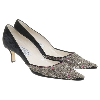 Emma Hope´s Shoes pumps met pailletten en fluweel