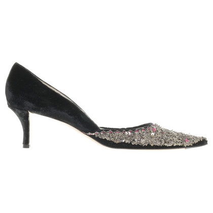 Emma Hope´s Shoes pumps avec des paillettes et velours