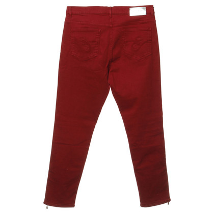 Escada Rode jeans hoge taille blik