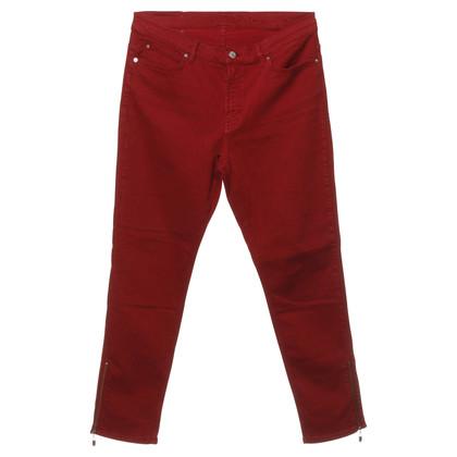 Escada Rote Jeans im High Waist-Look