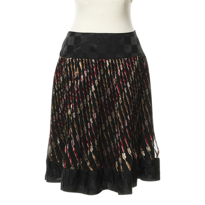 Anna Sui skirt with tooth brushes pattern