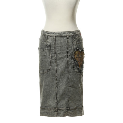 Christian Lacroix Denim skirt with heart detail