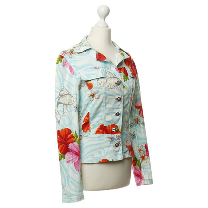 Blumarine Jacke mit Tropical-Print