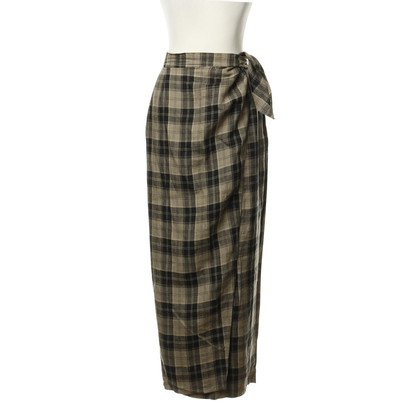 Pauw Maxi-skirt with check pattern