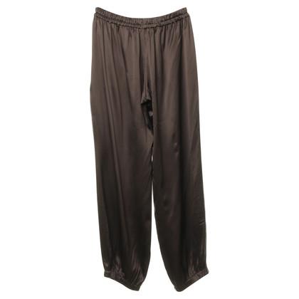 Lanvin Pantalone in seta marrone