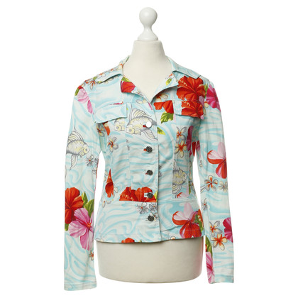 Blumarine Tropical-stampa giacca