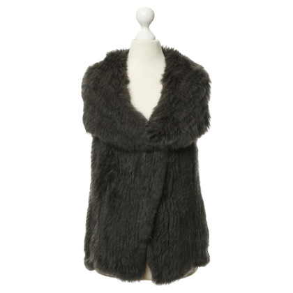 Arma vest with fur trim