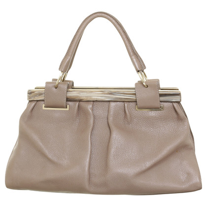 Donna Karan Hand bag with closure in Horn optics