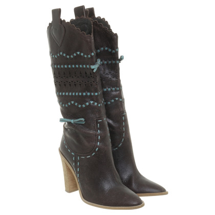 BCBG Max Azria Perforated leather boots