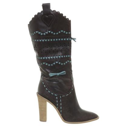 BCBG Max Azria Stiefel aus perforiertem Leder