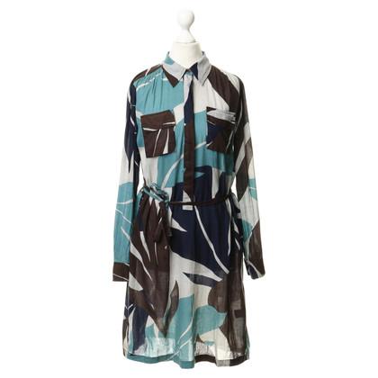 Antik Batik Blusenkleid mit Muster