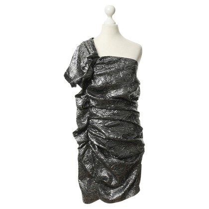 Isabel Marant One-shoulder dress with silver glitter