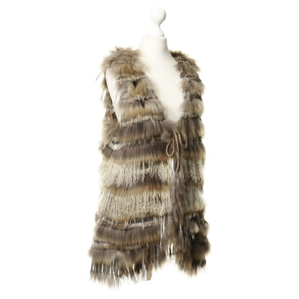 Other Designer Accessories - vest with rabbit fur