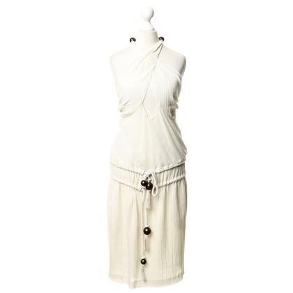 Chloé Halter jurk in crème
